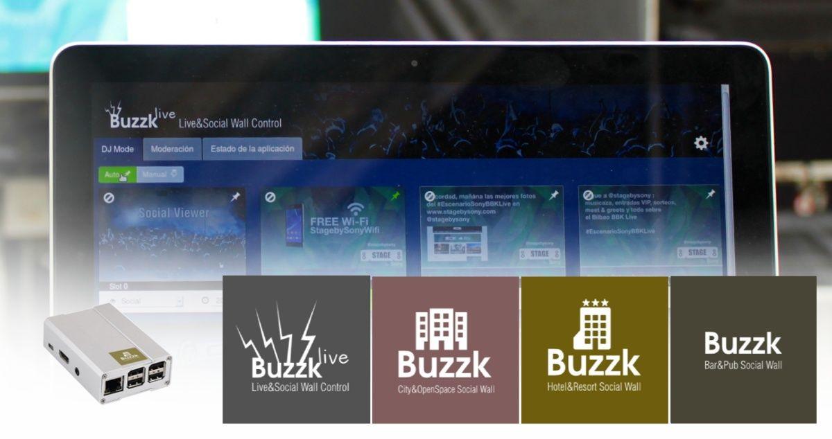 Gama de productos de Buzzk, digital signage para ocio y turismo