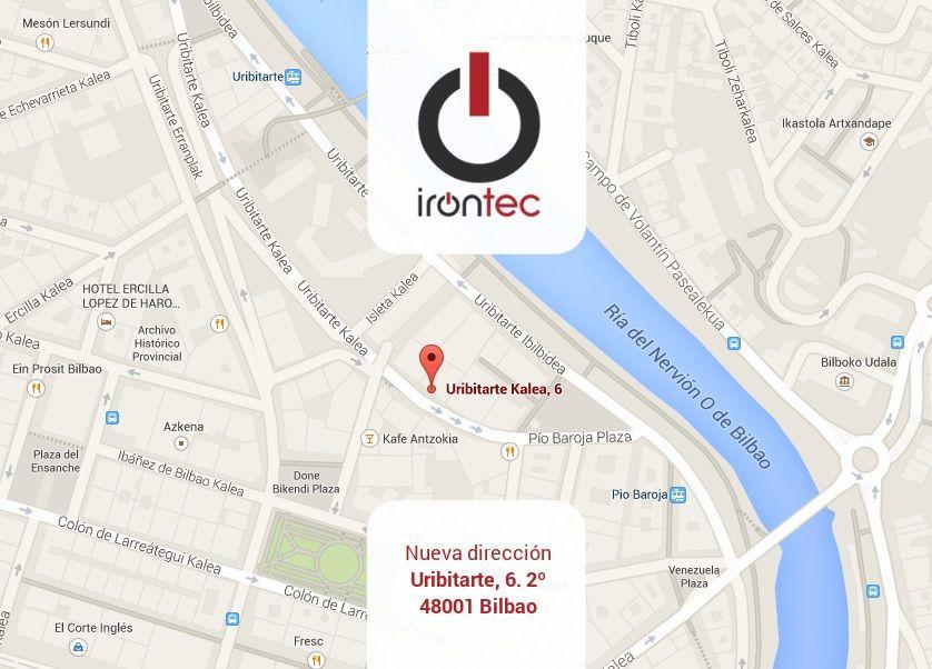 Nueva dirección de Irontec: Uribitarte, 6. Bilbao