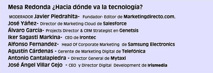 Presencia de Irontec en la mesa redonda de Tech Marketing Show 2015 de marketingdirecto.com en Madrid