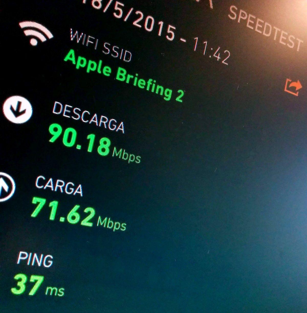 Estadísticas de la conexión WiFi en el evento de Apple en Bilbao