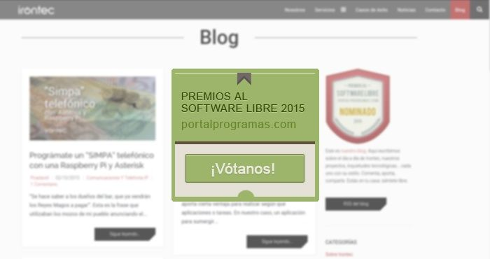 Irontec, nominado como Mejor Blog de Software Libre de 2015