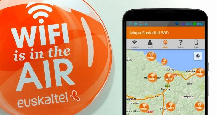 Aplicación móvil para Euskaltel Wifi Kalean