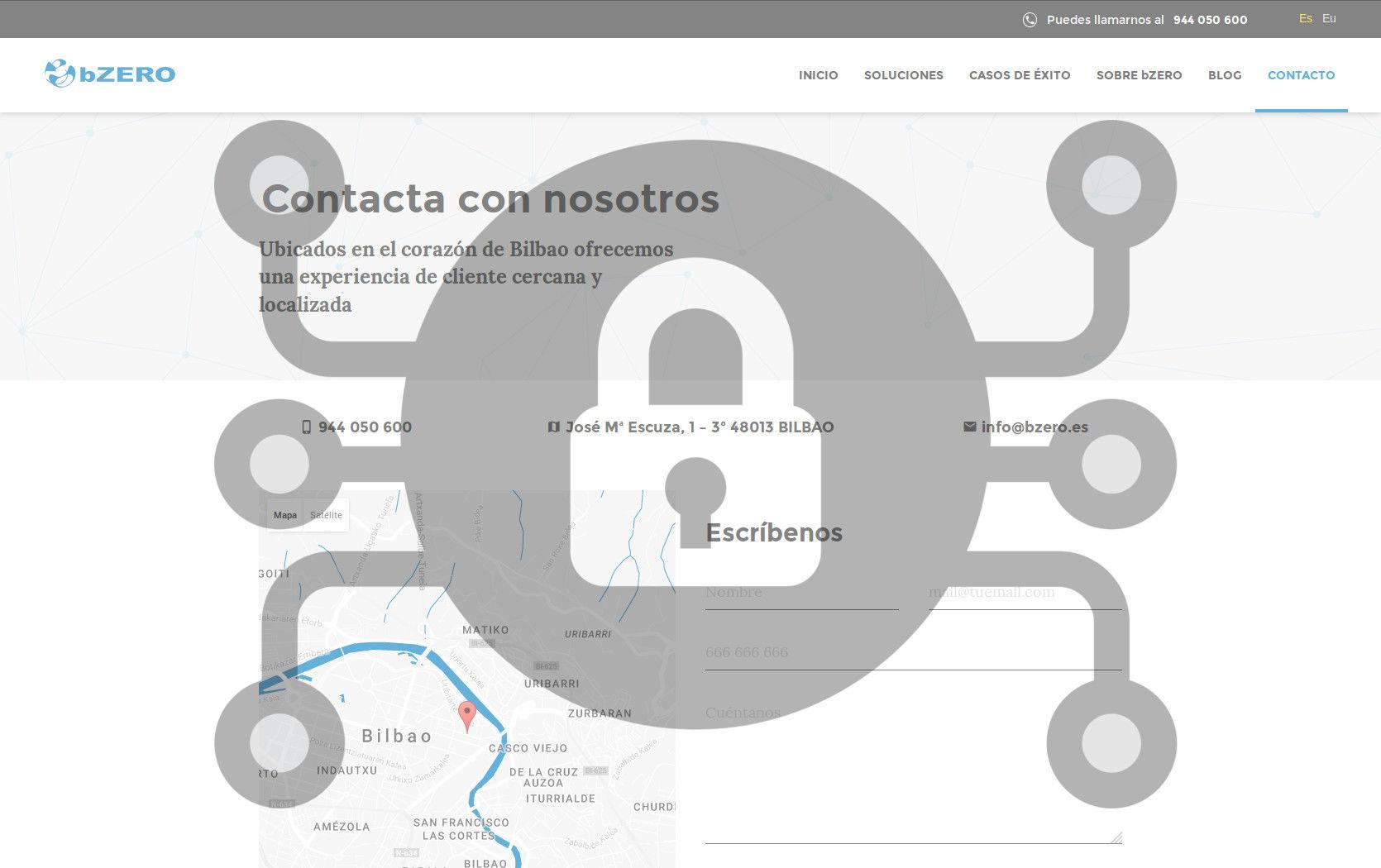 Nueva web de bZERO: un sistema eficiente y libre de intrusos.