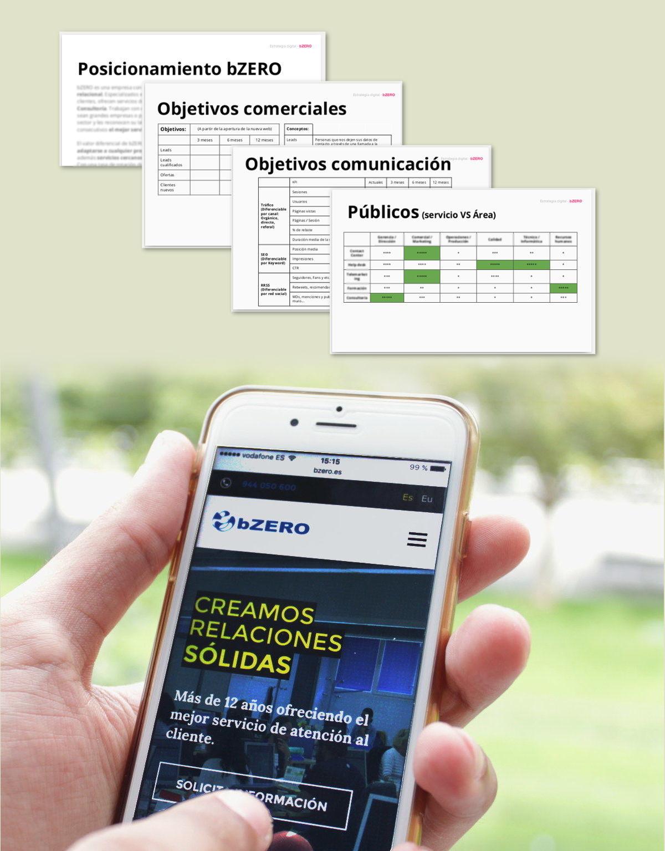 Plan de transformación digital y nueva web de bZERO perfecta para entornos móviles