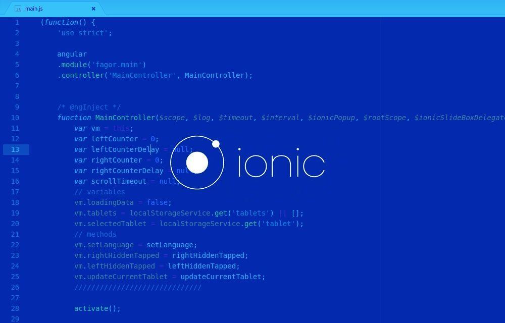Proyecto realizado con el Ionic Framework