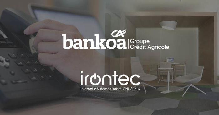 La entidad financiera Bankoa apuesta por IVOZ, la solución de telefonía IP de Irontec