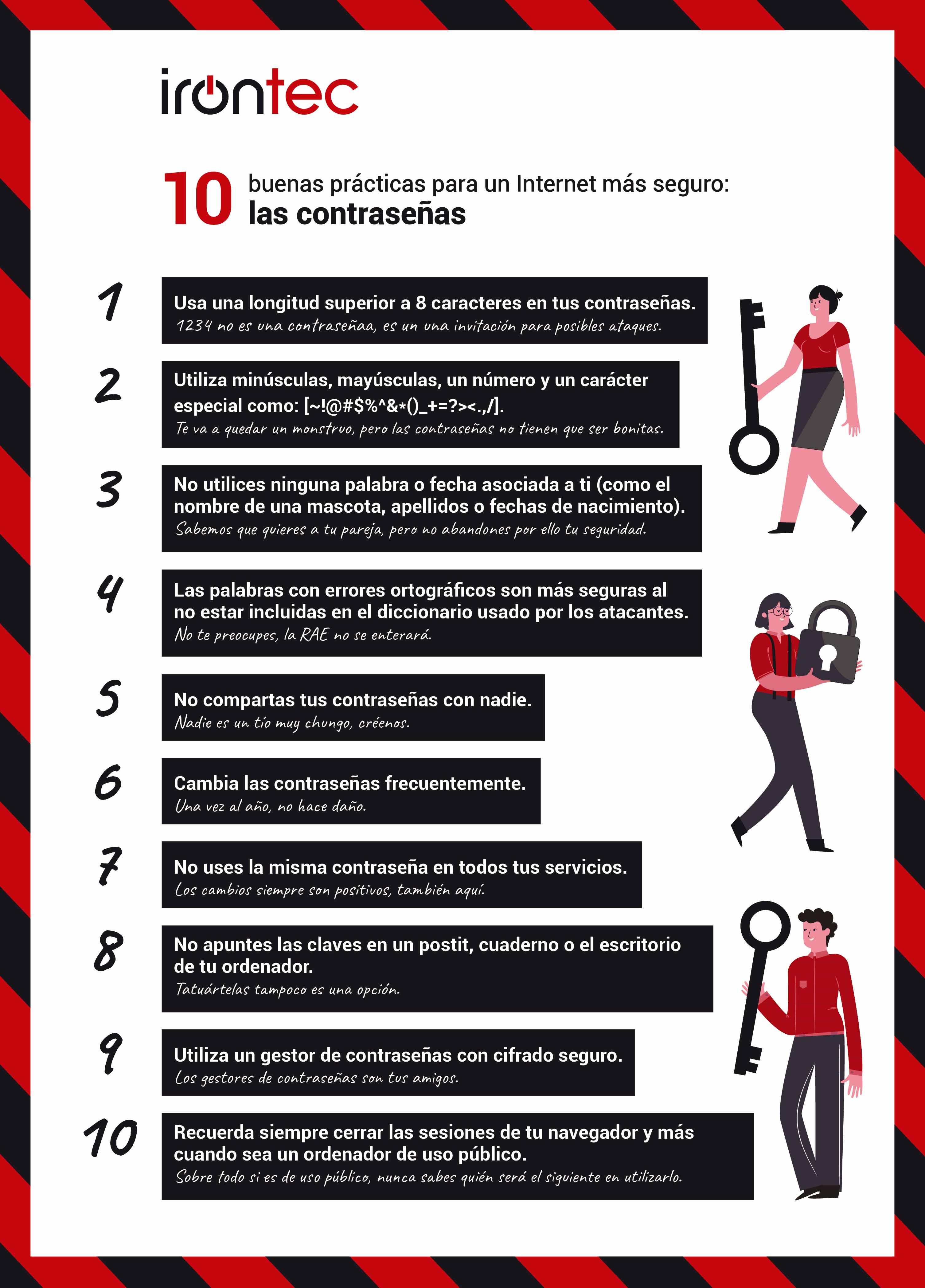 10 buenas practicas seguridad en las contraseñas